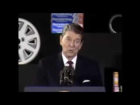 Рейган рассказывает анекдот про машины в СССР
