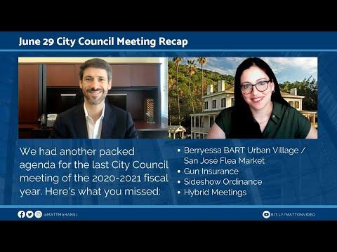 Jun 29 San Jose City Council Meeting Recap