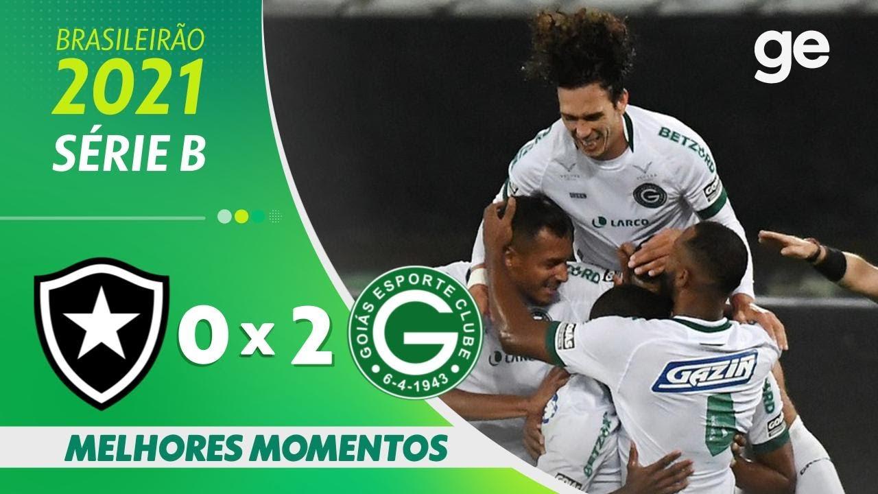 VÍDEO: Gols e melhores momentos de Botafogo 0x2 Goiás pela Série B