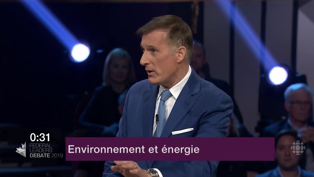 Justin Trudeau et Maxime Bernier débattent sur les oléoducs et le changement climatique