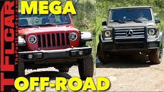 Best of America vs Germany Off-Road: Mercedes G-Wagon Takes on the New Wrangler!