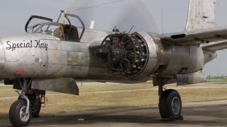 Special Kay starts #1 engine after 6 years of restoration. The ONLY flying A-26A Counter Invader!!!