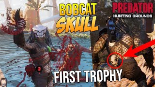"Predator Hunting Grounds PREDATOR BOBCAT SKULL Gameplay ""I FINALLY UNLOCKED MY FIRST TROPHY!"""