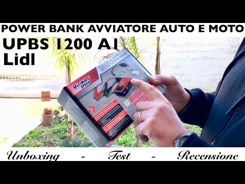 Power bank AVVIAMENTO MOTO AUTO. booster ULTIMATE SPEED lidl UPBS 1200 A1 batteria