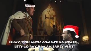 Fegelein's Screamer Prank on Inglourious Basterds Hitler: The White Christmas Game