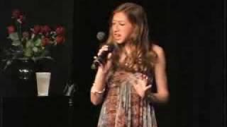 """www.GottaSingNYC.com - Alexis Newman singing """"Because You Loved Me"""" & """"One Step at a Time"""""""