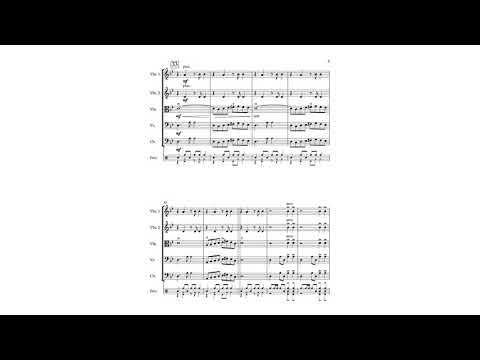 This is an original piece I wrote for a string orchestra with percussion.
