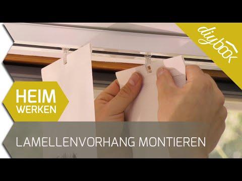 Vertikal Lamellenvorhang montieren (Vertikaljalousien)