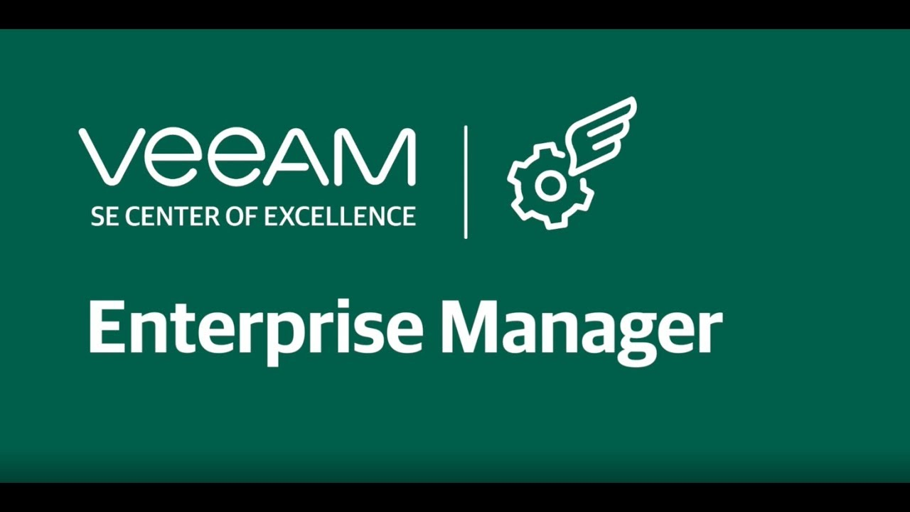Veeam Backup Enterprise Manager video