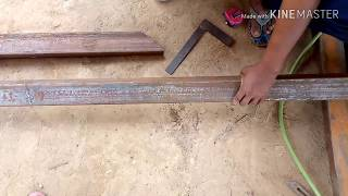 cut the square pipe in 45 degrees from the grinder/ square pipe 45 degree mein grinder se cutting ka