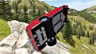 ЭПИЧНЫЕ АВАРИИ и полеты тачек! BeamNG Drive! Видео для парней про машинки!