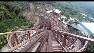 Wood Coaster POV GCI Wooden Roller Coaster Knight Valley China 木质过山车