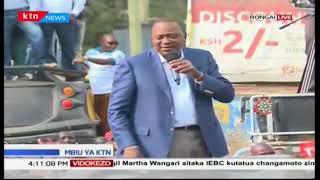 Kiongozi wa Jubilee rais Uhuru Kenyatta akejeli Raila Odinga kwa uwamuzi wa koti