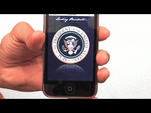 Obama's Customized iPhone