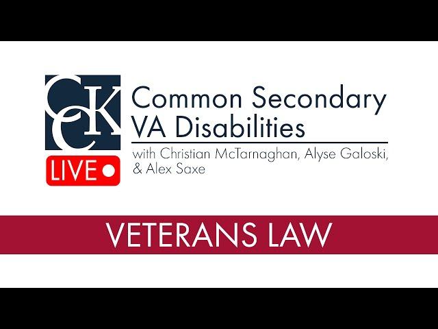 Most Common Secondary VA Disabilities
