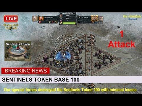 War Commander : Sentinels Token Base 100 ( One Attack )
