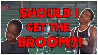 SHOULD I GET THE BROOM?!  - NBA 2K16 Blacktop Gameplay ft. Flam