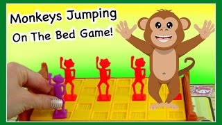 Monkeys Jumping On The Bed Game!  Fun Board Game For Kids!