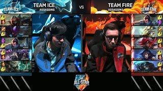 BJERGSEN and FAKER - Assassins Mode All Star 2016 - Team Ice vs Team Fire