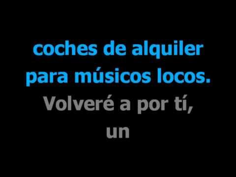 Musico loco  - Joaquin Sabina -  Karaoke -  Letra