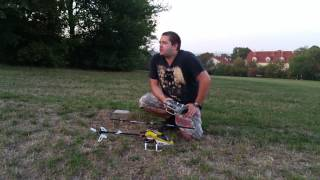 Blade 450 X V2 Flug 1, Erstflug Schwebeübung + Kurzvorstellung