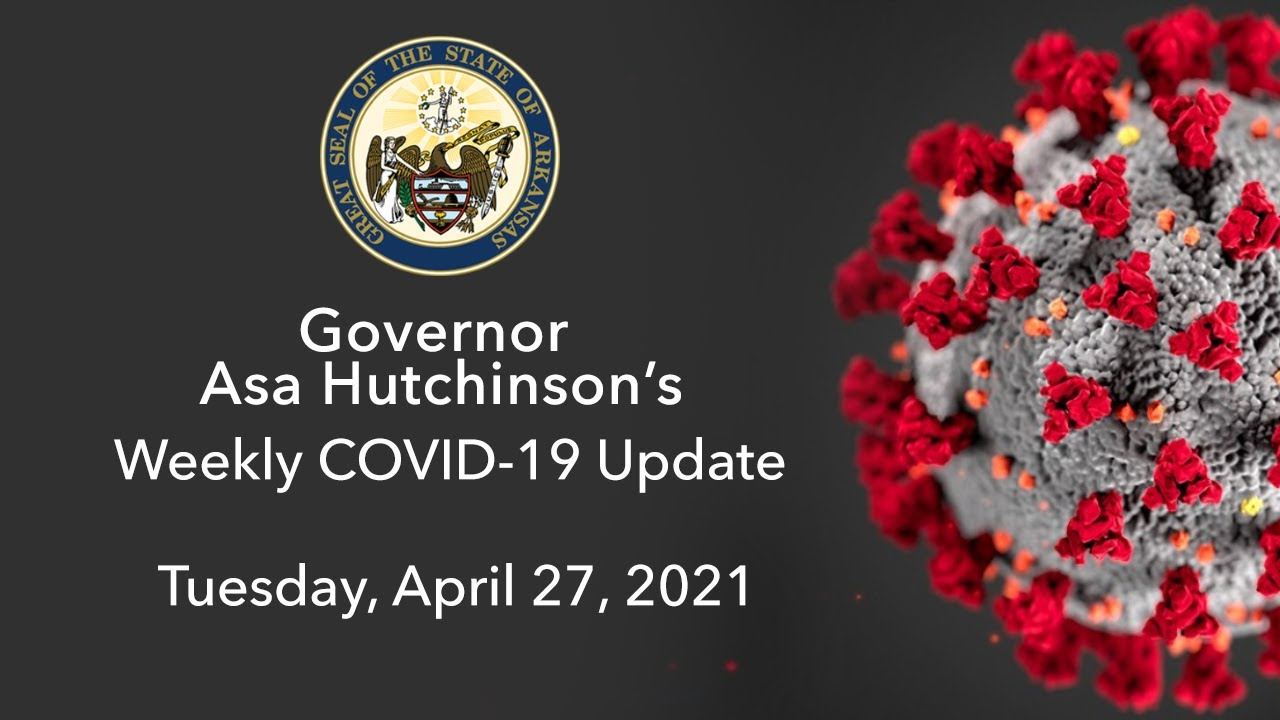 LIVE: Governor Hutchinson Provides Weekly COVID-19 Update (04.27.21)