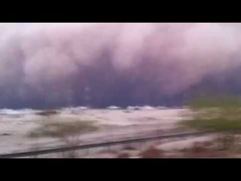 اقوى عاصفة غبار بالكويت Sand Storm in Kuwait