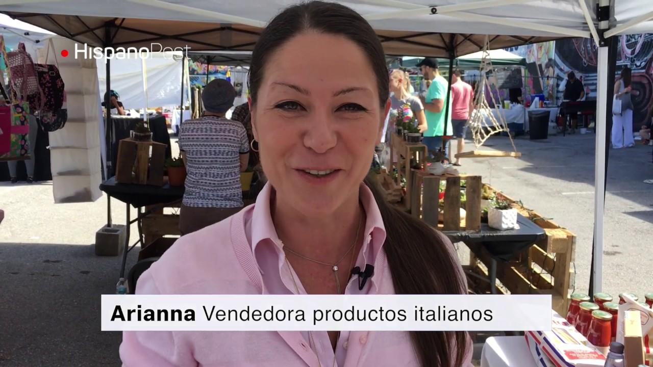 Un mercado granjero en la zona artística de Miami