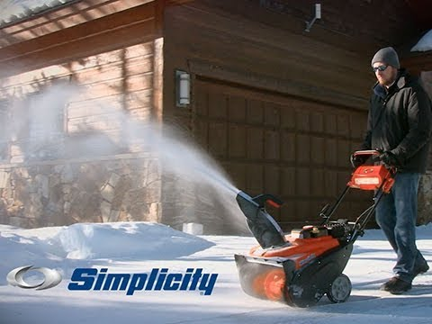2018 Simplicity Single-Stage with SnowShredder 1022EE in Francis Creek, Wisconsin