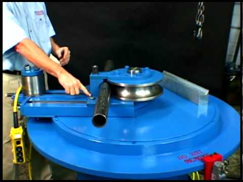 Setting The Roller to the Correct Position on the Pipe Bender