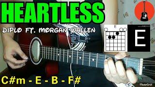 Heartless   Diplo Cover | Guitar Tutorial With Chords (Morgan Wallen)