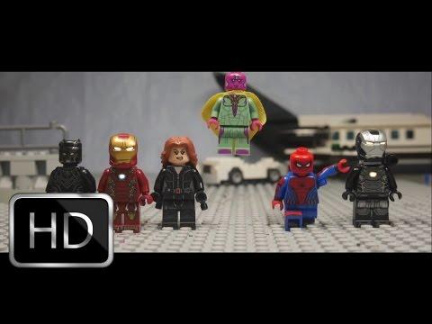 Captain America: Civil War Airport Scene in Lego