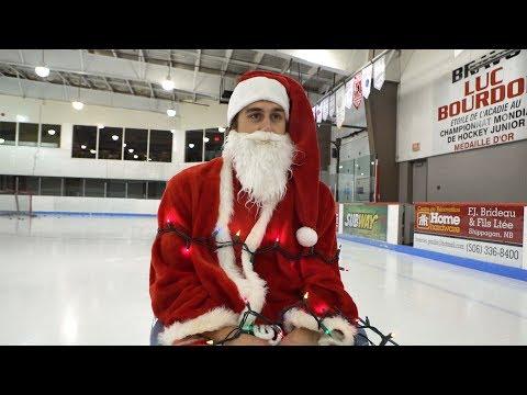 Holiday Hockey Trick Shots | SweetSpotSquad