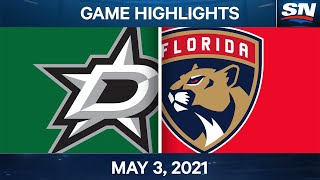 NHL Game Highlights | Stars vs. Panthers – May 3, 2021