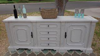 How To Redo Furniture: White Buffet