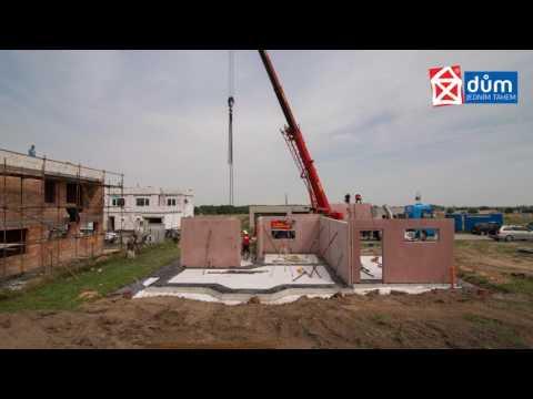 Montovaná hrubá stavba zrychlí výstavbu domu o týdny i měsíce