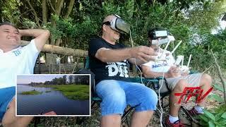 FPV ao VIVO-Perseguição Aérea- Drone PERSEGUE Drone (Visão FPV Bacana)