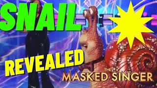 The Snail REVEALED - On The Masked Singer