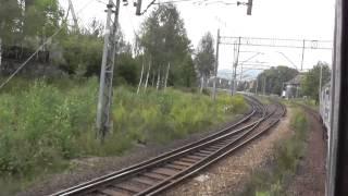 preview picture of video 'Odcinek Wałbrzych Główny - Wałbrzych Miasto z okna pociągu TLK Śnieżka'