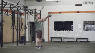 Kettlebell Swing Tutorial   HEARTCORE Athletics
