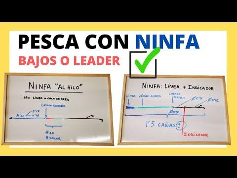 """BAJO O LEADER para pescar con ninfa 【 """"Al hilo"""" & Con Indicador 】"""