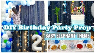 DIY Birthday Decoration Ideas | Baby Elephant Theme Party Decor Ideas At Home | How To Tutorial