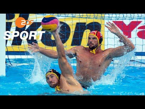 Deutsche Wasserballer im Viertelfinale - Wasserball, RSA - GER | Schwimm-WM 2019 - ZDF