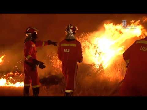 Extinción de incendio forestal en Villardiegua de la Ribera, Zamora. 22 de agosto de 2013