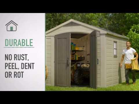 kunststoff gartenhaus kaufen g nstig im preisvergleich. Black Bedroom Furniture Sets. Home Design Ideas