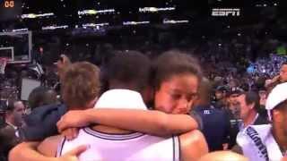 Tim Duncan cries with his kids after winning NBA Finals