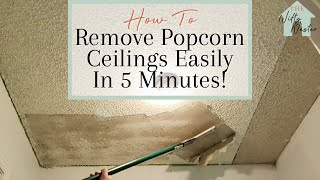 How To Remove Popcorn Ceilings Easily | Remove Popcorn In 5 Minutes