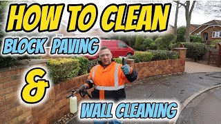 how to clean block paving driveways