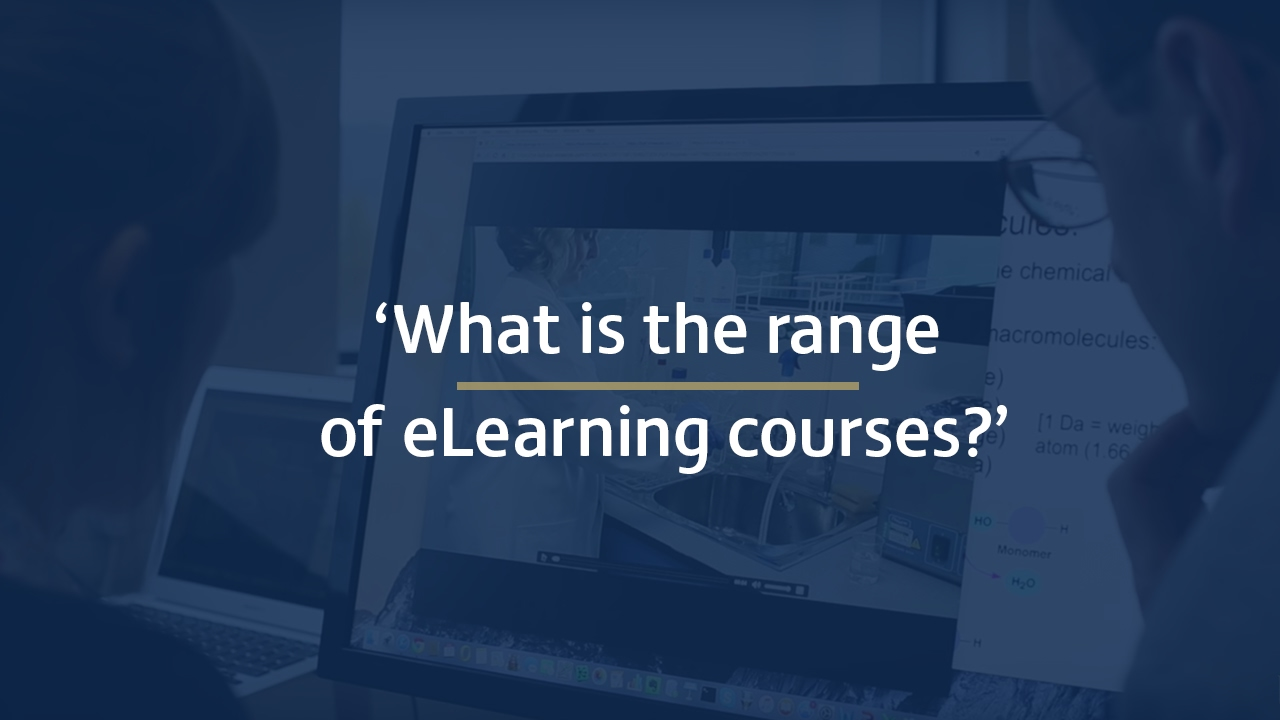 What is the range of eLearning courses?