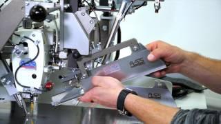 Карманный автомат для обработки прямых прорезных карманов «в рамку» с клапаном или без клапана BASS 3050 ASS (эконом версия) video
